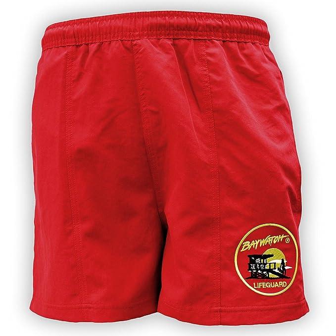 Lifeguardgear Oficial Baywatch® Rojo Bañador: Amazon.es: Ropa y ...