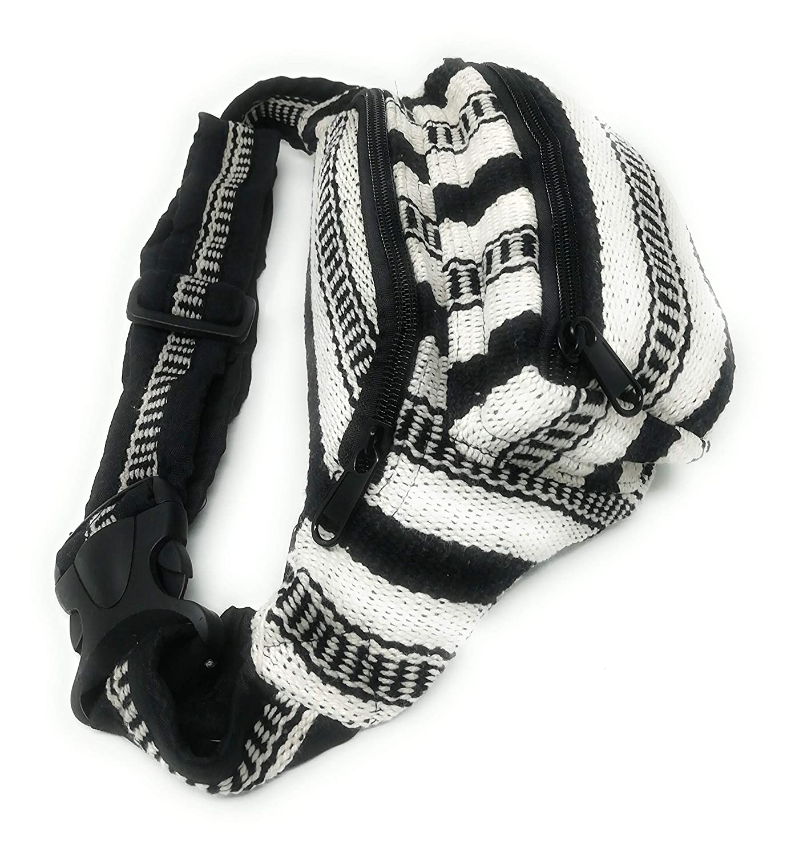 Black Stripes Ri/ñonera Hippie Rasta Chica//Chico Moda Etnica Amplia Regulable