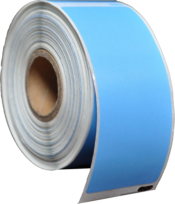 Pack de 5 Dymo 99012 Bleu Blue Etiquettes Compatibles 36mm x 89mm