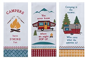 Kay Dee Designs Camping Life Kitchen Tea Towels, Set of 3