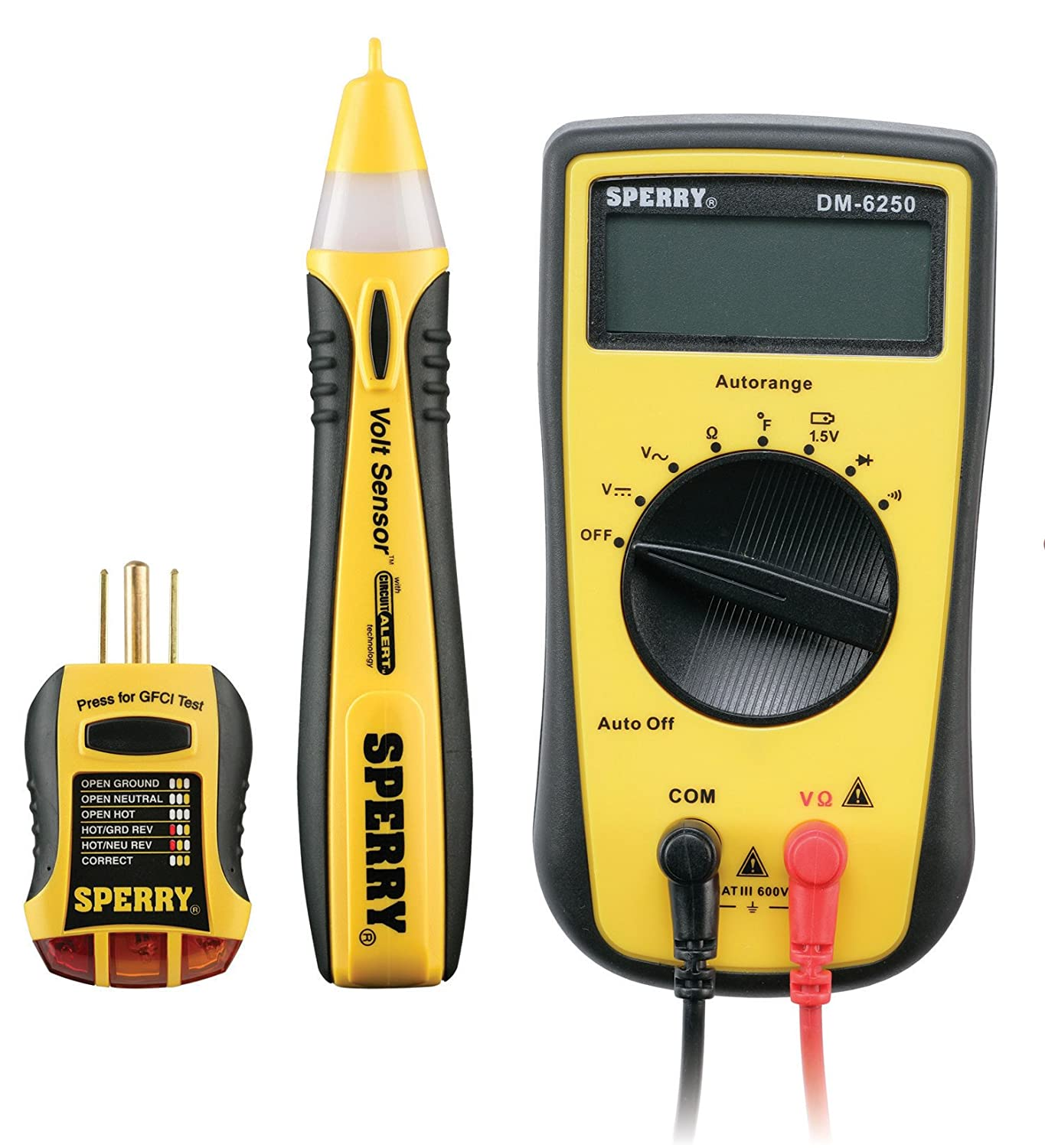 Sperry Instruments Gfi6302 Gfci Outlet Receptacle Tester Standard Wiring A 120v Ac Outlets 7 Visual Indication