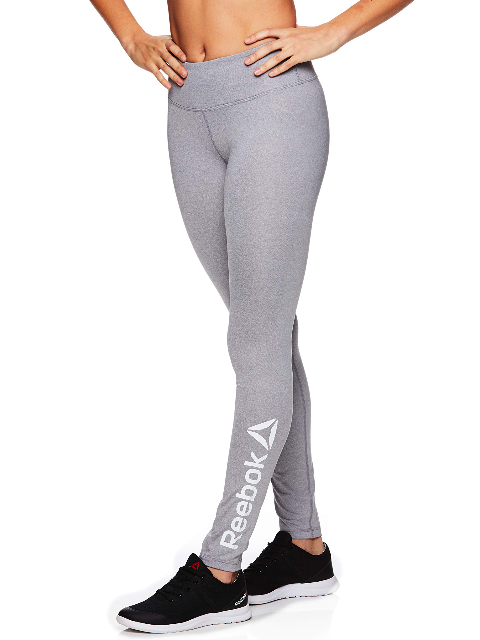 Reebok Women's Legging Full Length Performance Compression Pants - Grey Day Heather, Small by Reebok
