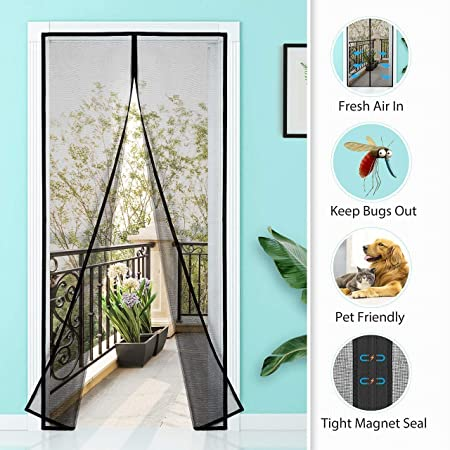 Homitt Magnetic Magnetic Door Curtain For Insect Protection Without