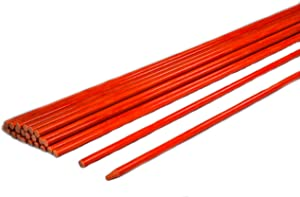 "Fiberglass 48 Inch Driveway Markers – Safety Fencing Stakes Orange, Pointed tip for Property, Field, Snowplow Guide, Garden Markers 4 Ft, ¼"" (Pack of 20)"