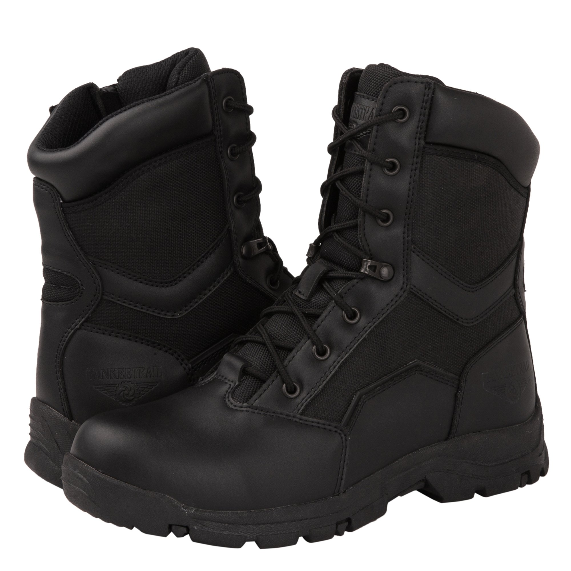 kingshow KS Men's Side Zip Work Boots 8.5 D(M) US, 1587BLK by KINGSHOW