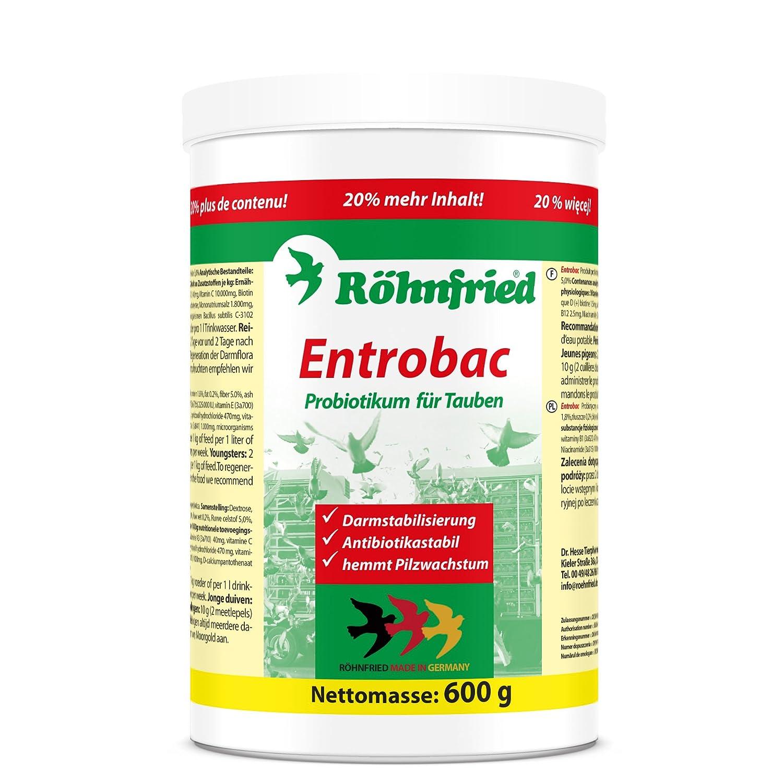 Röhnfried Entrobac - für die optimale Darmflora bei Tauben mit probiotischen Bakterien (600 g)