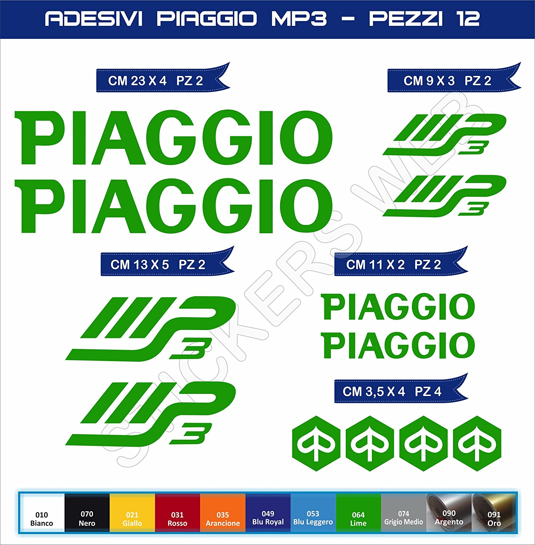 Adhé sifs stickers pegatina PIAGGIO MP3 moto motorcycle cod. 0563 Pimastickerslab