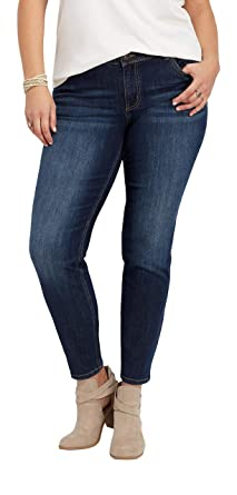 aa52e3ccb98019 maurices Dark Wash Skinny Jean - Denimflex Plus Size at Amazon Women's  Clothing store: