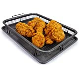 EaZy MealZ EZA-100C2 Perfectly Crisp, Less Fat, Nonstick Crisper Basket + Cookie Sheet set for Oven, oberdome plus, oberdome bbq, Gray