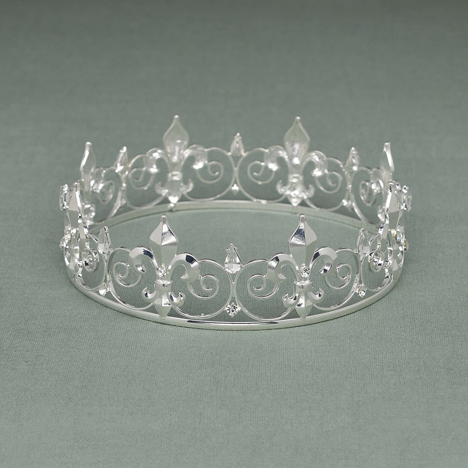 Metal Crowns and Tiaras for Men Prom King Party Hats Costume Accessories Gold SWEETV Royal Full King Crown