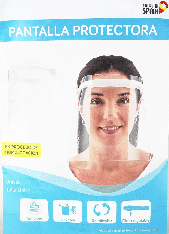 Viseras de Seguridad facial reutilizable transparente de cara completa. PACK 2 Protector Facial de Seguridad