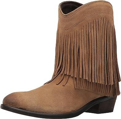 6aa129f08 Amazon.com | ROPER Women's Fringe Shorty Tan Suede 5.5 B US | Boots