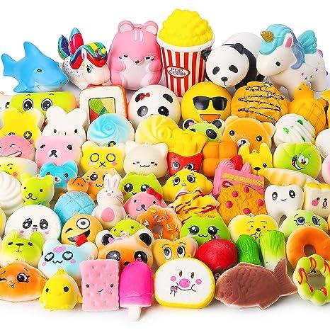 Juguetes Squishy de Hinchado Lento Paquete Surtido de 10 Squishies: Kawaii de Comida Gigante Bollo Pan Donuts Panda Suaves y Blandos Jumbo Medio y ...