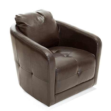 Excellent Amazon Com Best Selling Calypso Leather Swivel Chair Brown Onthecornerstone Fun Painted Chair Ideas Images Onthecornerstoneorg