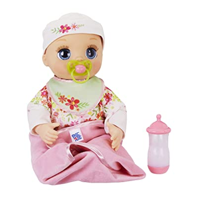 Baby Alive Real As Can Be Baby: Realistic Blonde Baby Doll, 80+ Lifelike Expressions, Movements & Real Baby Sounds, With Doll Accessories, Toy for Girls and Boys 3 and Up: Toys & Games