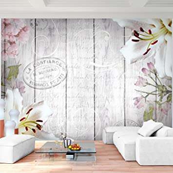 Attraktiv Fototapete Blumen Vintage Grau Vlies Wand Tapete Wohnzimmer Schlafzimmer  Büro Flur Dekoration Wandbilder XXL Moderne Wanddeko