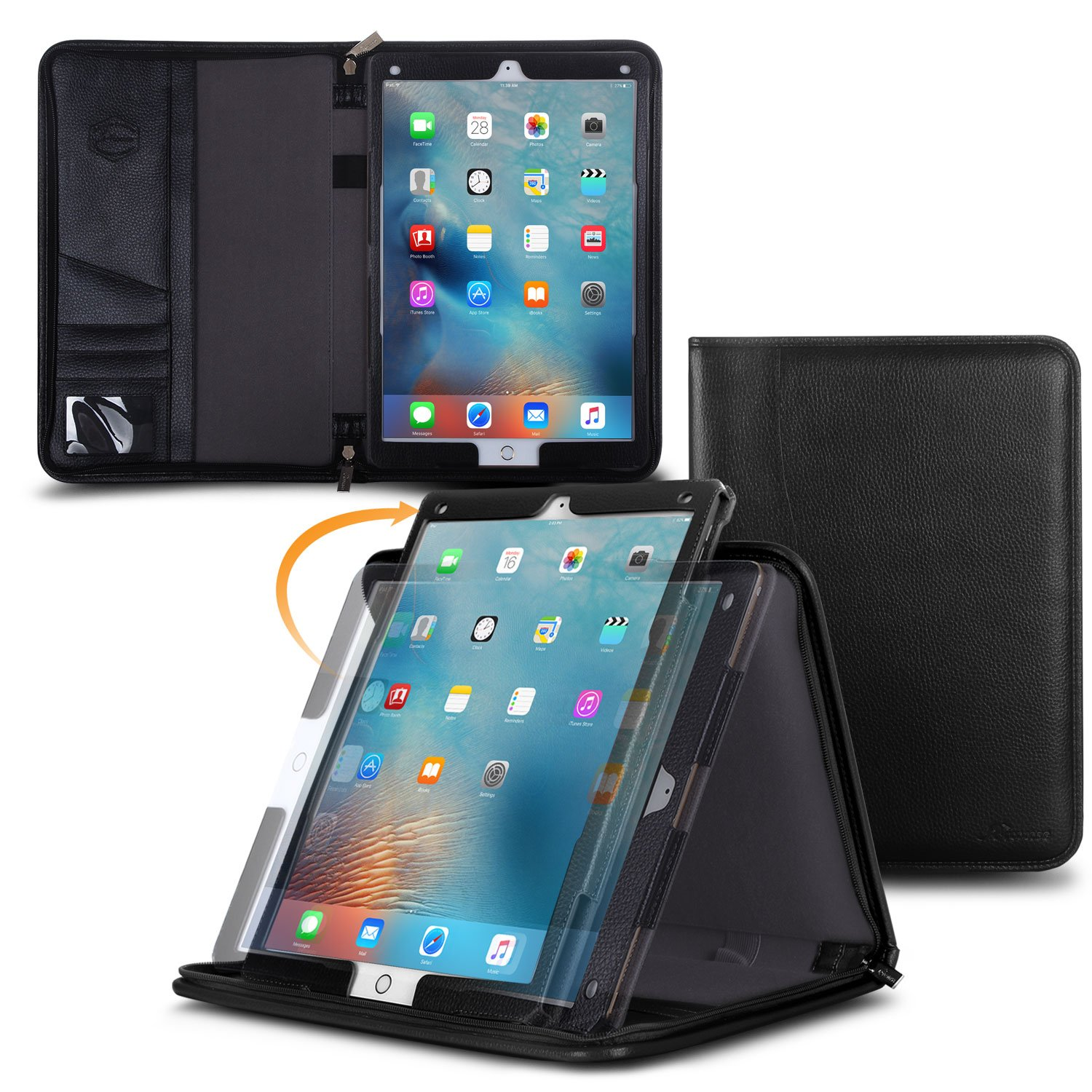 Amazon.com: Apple iPad PRO 9.7 Case Cover with Pencil Holder and ...