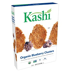 Kashi, Breakfast Cereal, Blueberry Clusters, Organic, 13.4oz Box