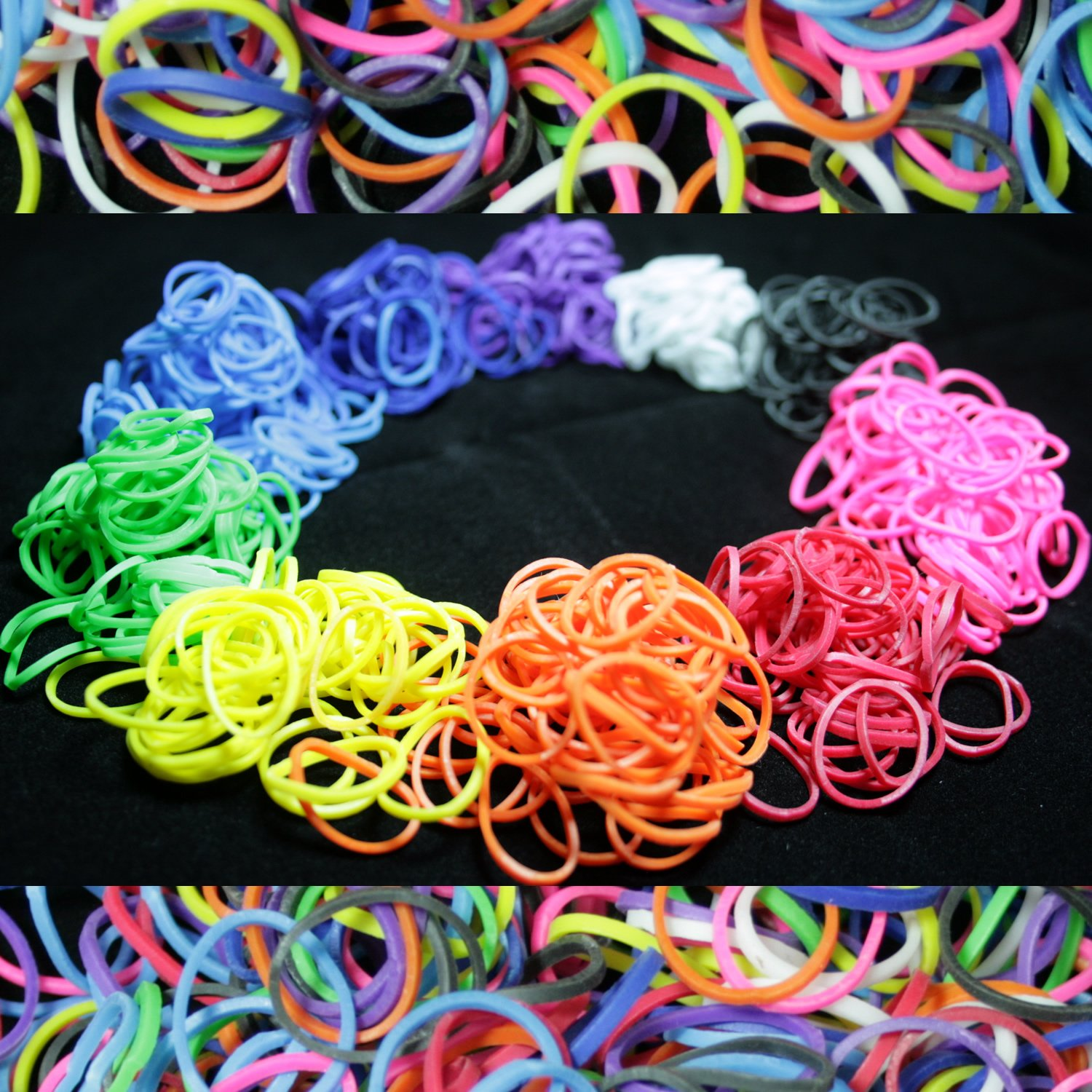 600 Piece Multi-Color Rubber Band and S-Clips Loom Art and Craft ...