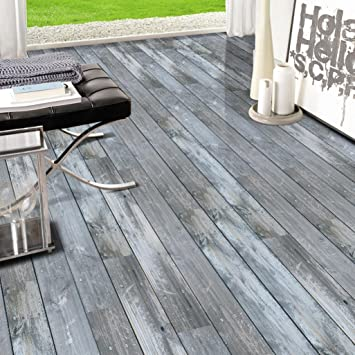 HARRYSTORE 3D Holz Stick selbstklebende Boden Aufkleber Simulation ...