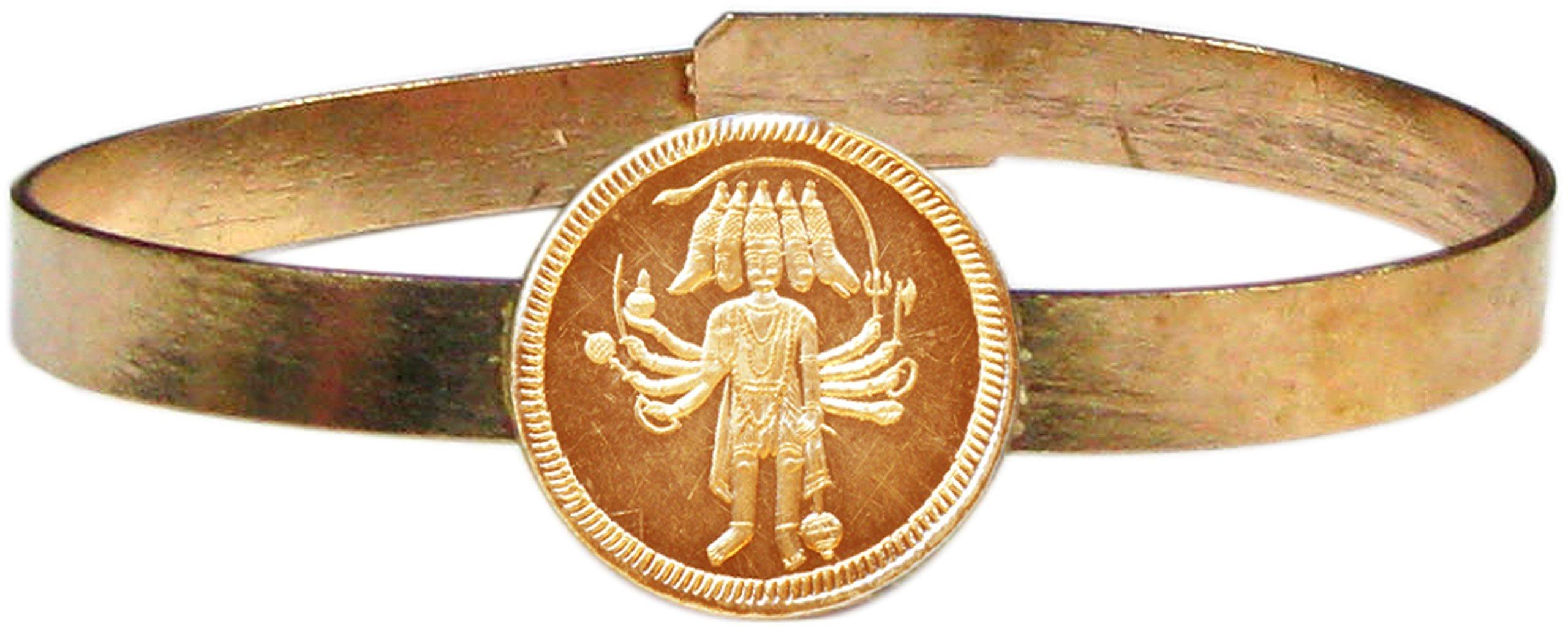 Narasimha Handicrafts Bangle - Panchamukhi Hanuman Copper Kangan Kankanam Kaapu Bracelet Wristlet