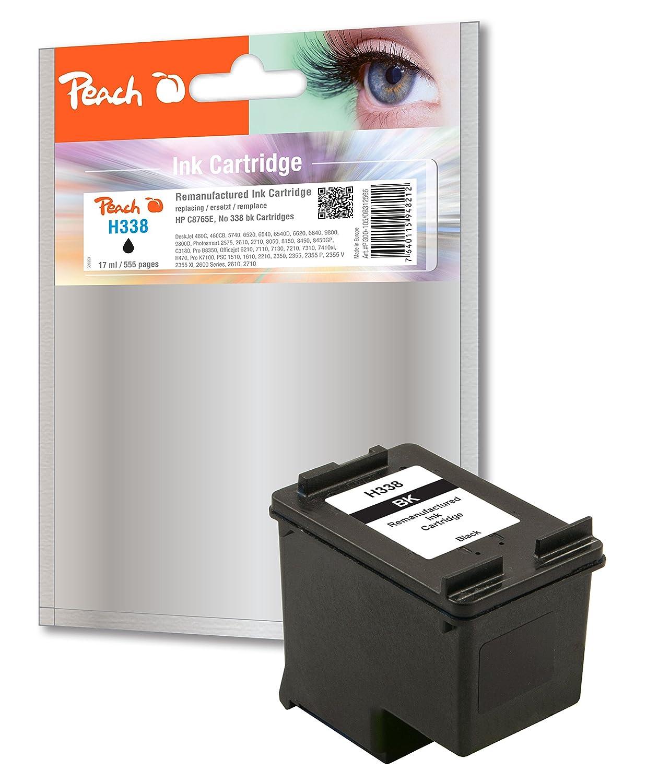 Peach PI300-105 Print Head Cartridge for HP C8765E, No. 338 - Black:  Amazon.co.uk: Office Products
