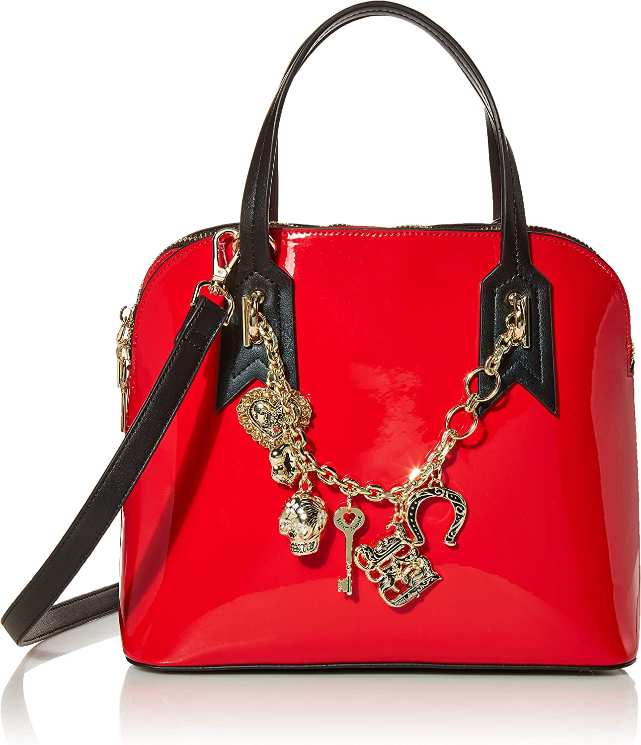 Betsey Johnson Charmed Dome Satchel, Red