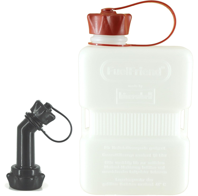 FuelFriend® -Plus Clear - Jerrican 1, 0 Litre + Bec verseur verrouillable hünersdorff FFPC10FRv