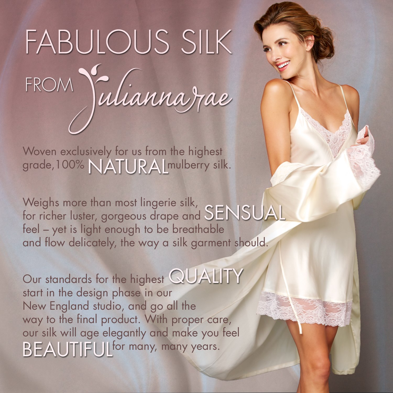 Julianna Rae Women's 100% Silk Pajama, Classic Fit, Evening Lounge, Alabaster, Petite, XS