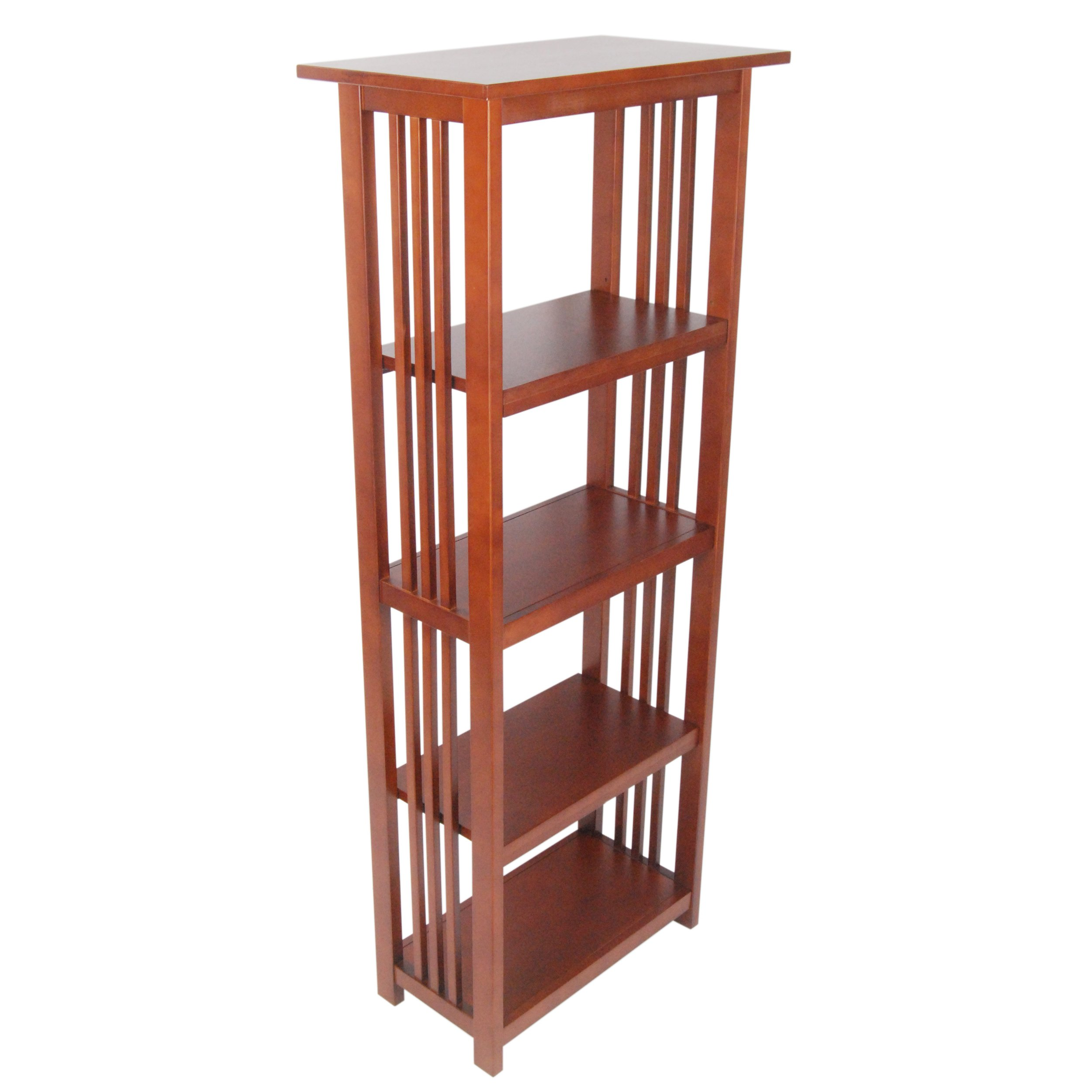Alaterre Artisan Bookcase, 60-Inch, Cherry