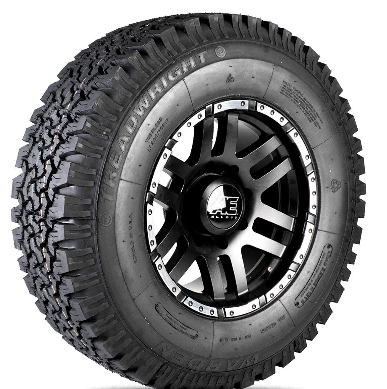 TreadWright WARDEN I A/T Tire - Remold USA - LT265/70R17E Premiere Tread Wear (50, 000 miles) W26517E
