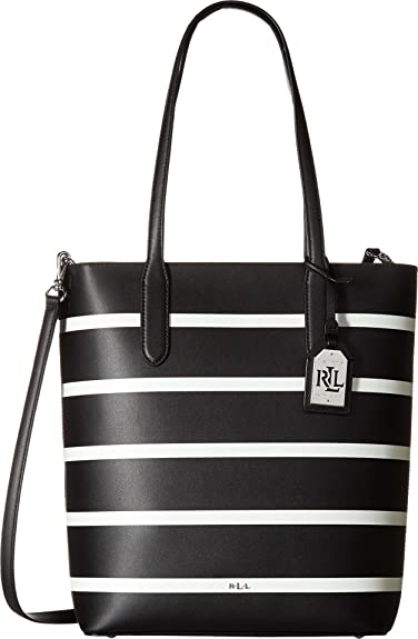 913b6ef6f0e Image Unavailable. Image not available for. Color  LAUREN Ralph Lauren  Women s Dryden Alexis Tote Black Vanilla Stripe One Size