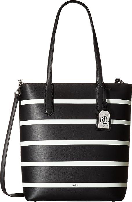 5aba913d2 LAUREN Ralph Lauren Women's Dryden Alexis Tote Black/Vanilla Stripe One Size