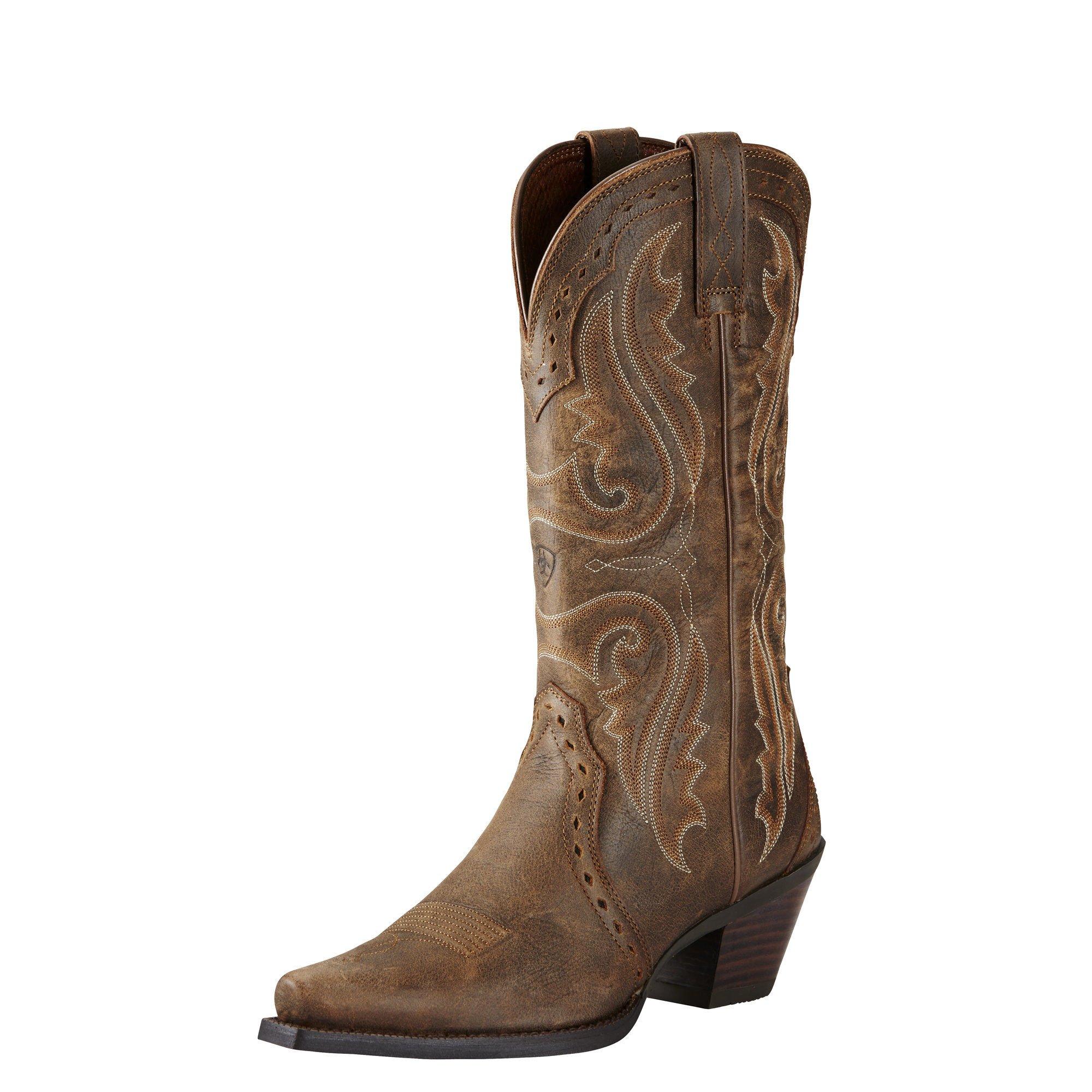 Ariat Women's Heritage X Toe Western Cowboy Boot, Vintage Bomber, 7 B US