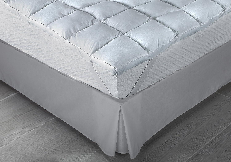 Classic Blanc - Topper/Sobrecolchón de fibra, antialérgico ...