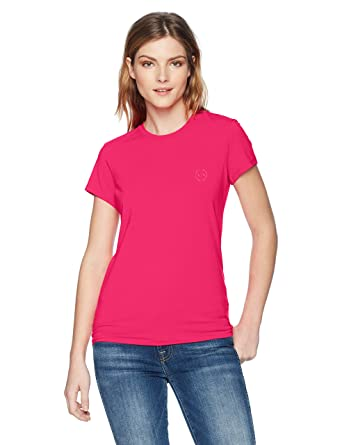 1939bea4 Amazon.com: A|X Armani Exchange Women's Classic Crew Logo Tee: Clothing