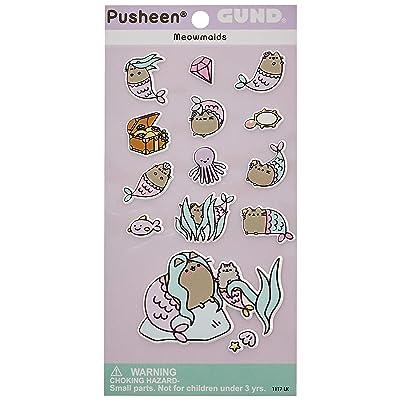 Enesco Gund Pusheen Meowmaids Mermaid Sticker Sheet, 14Piece, Multicolor: Gund: Toys & Games