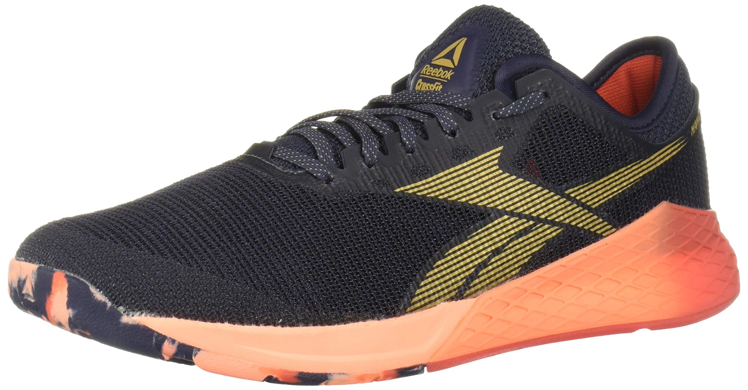 Reebok Men's Nano 9 Cross Trainer, Heritage Navy/Rosette/Sunglow, 6.5 M US by Reebok