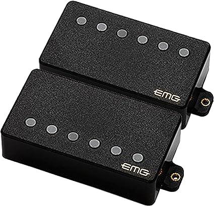 Black EMG 57//66 Bridge and Neck Humbucker Guitar Pickups Set