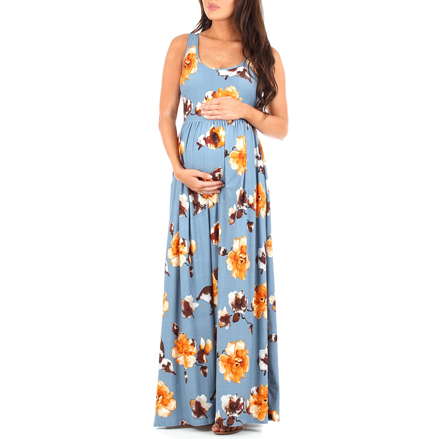 Maternity dresses amazon mother bee womens ruched sleeveless maternity ombrellifo Gallery