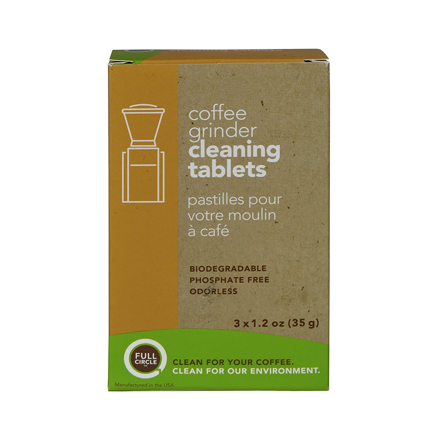 B0089RFY0M Urnex Full Circle Coffee Grinder Cleaning Tablets - 3 Single Use Packets - Coffee Grinder Cleaner Removes Coffee Residue and Oils 81HcoxCmtEL