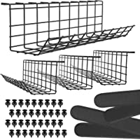 Under Desk Cable Management Tray - Under Desk Cable Organizer for Wire Management. Desk Cable Tray for Office and Home…
