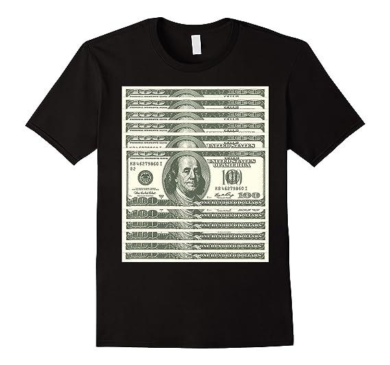 Mens One Hundred Dollar Bill T Shirt 2xl Black