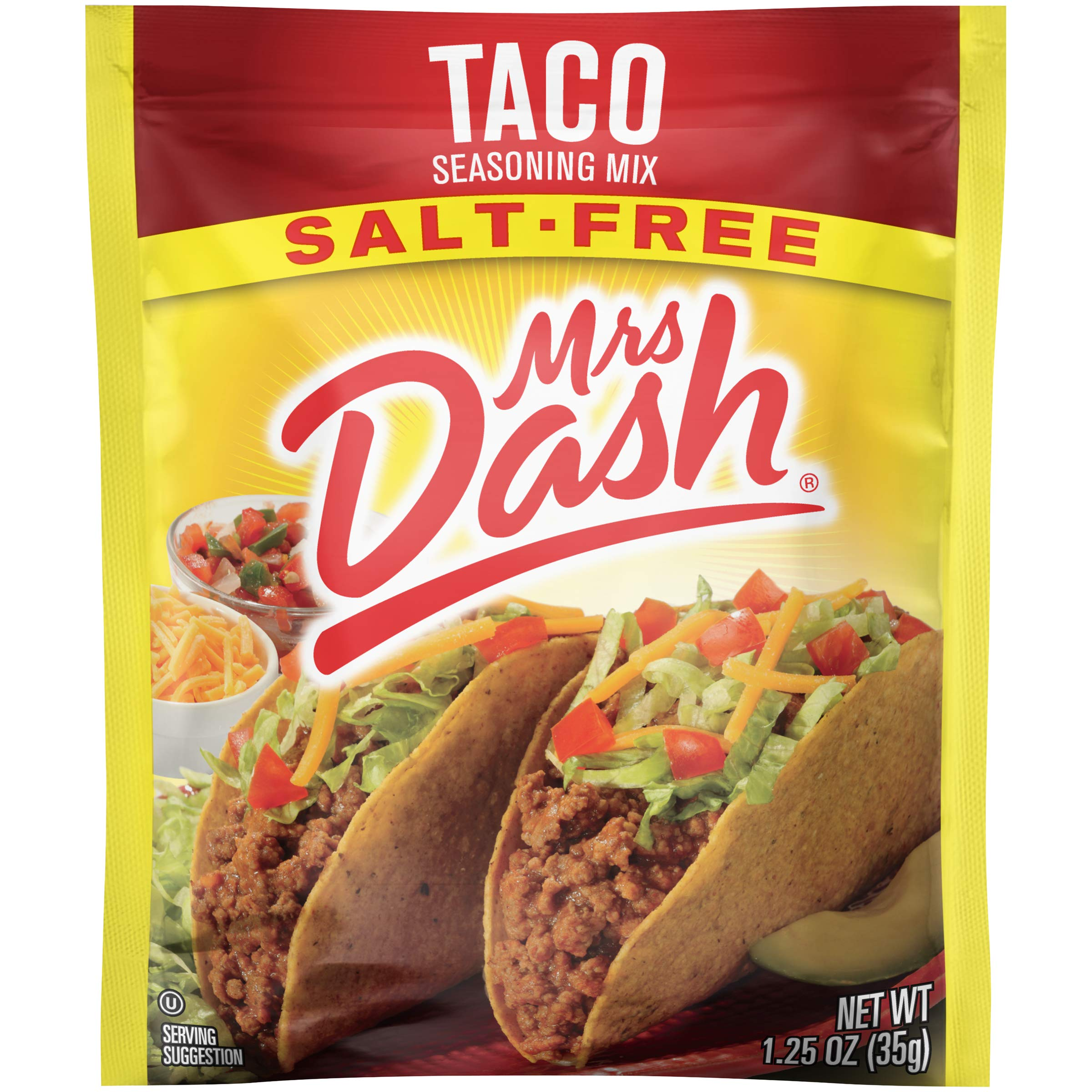 Dash Salt-Free Seasoning Mix, Taco, 1.25 Ounce (Pack of 12)