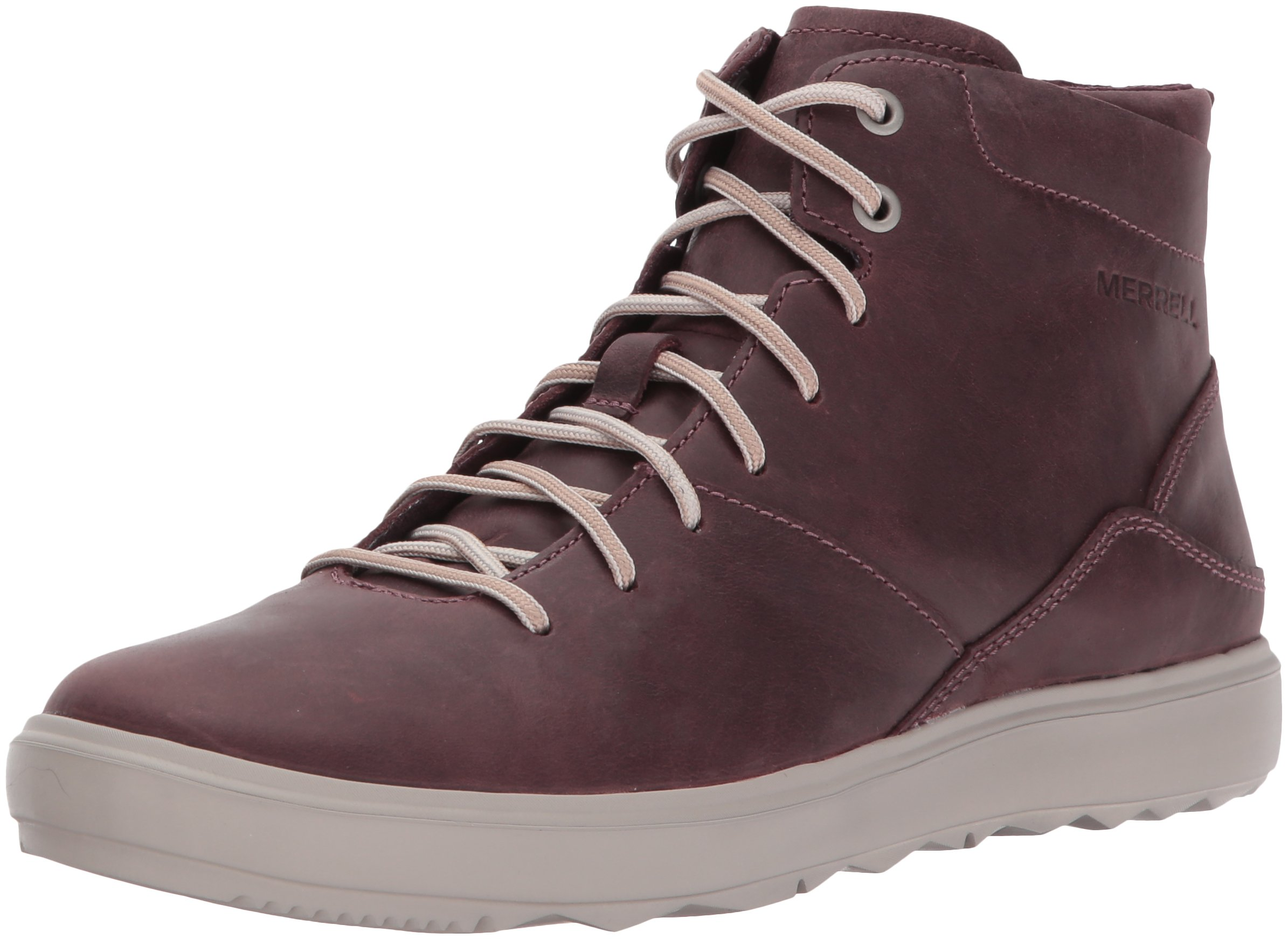 Merrell Women's Around Town Mid Lace Fashion Sneaker, Huckleberry, 8.5 M US