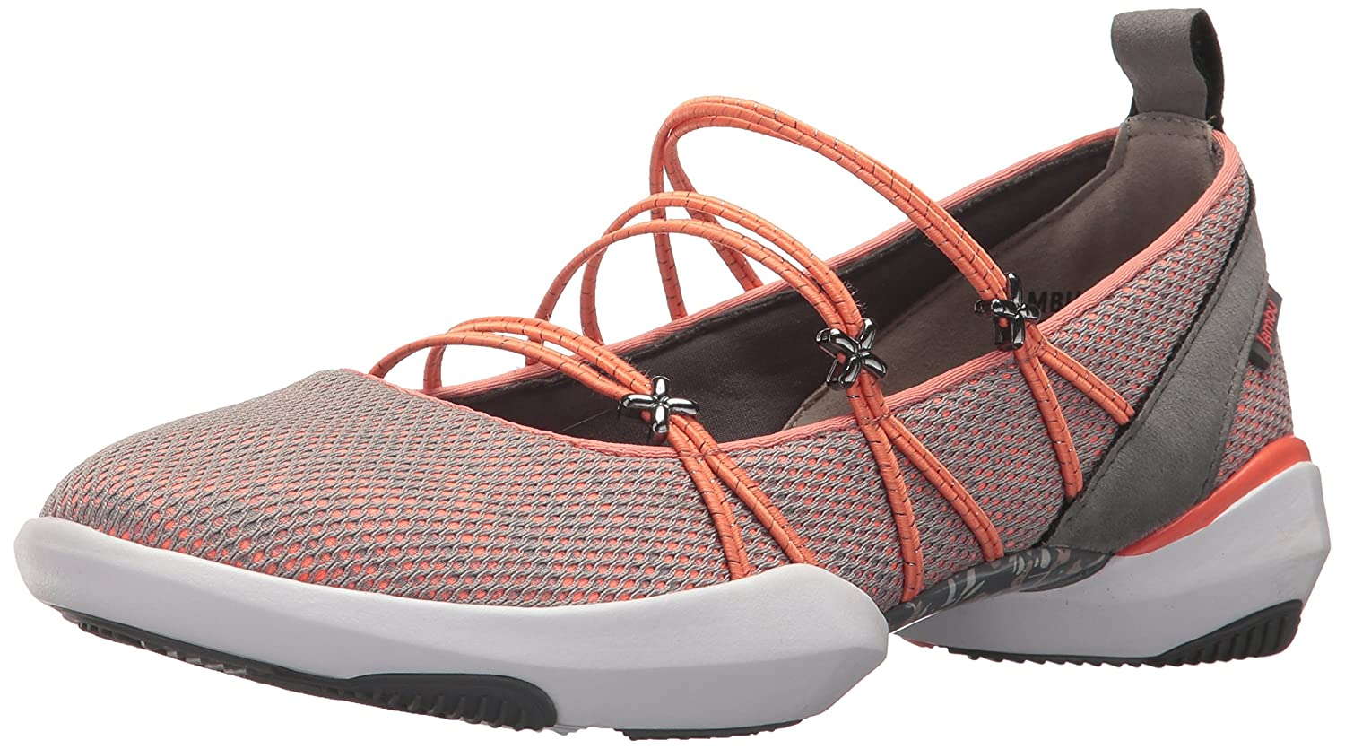 Jambu Women's Cheyenne Vegan Ballet Flat B074KQLTH2 6 B(M) US|Orange/Grey