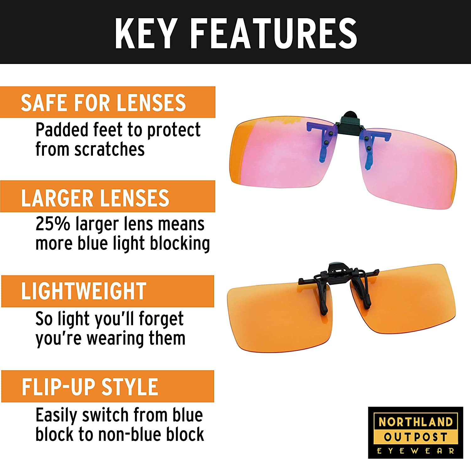 Portable Transparent Shell Case Protector Box For Clip-on Flip-up Lens Glasses 3