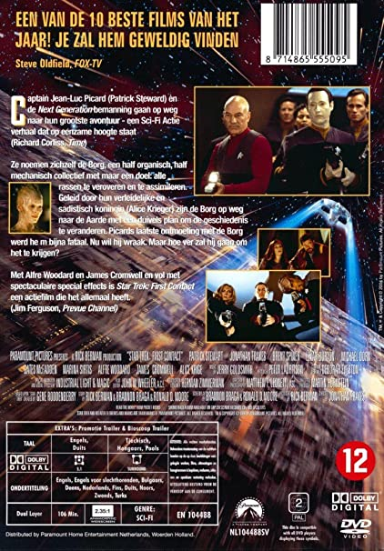 eb689084fc7 Star Trek - Der erste Kontakt - The First Contact - Sprache D/GB - Cover:  Nederlands: Amazon.de: Sir Patrick Stewart, Jonathan Frakes, Brent Spiner,  ...