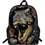 VEEWOW 16-Inch Hot Sale School Backpack For Teen Girls Boys Dinosaur Bag For School