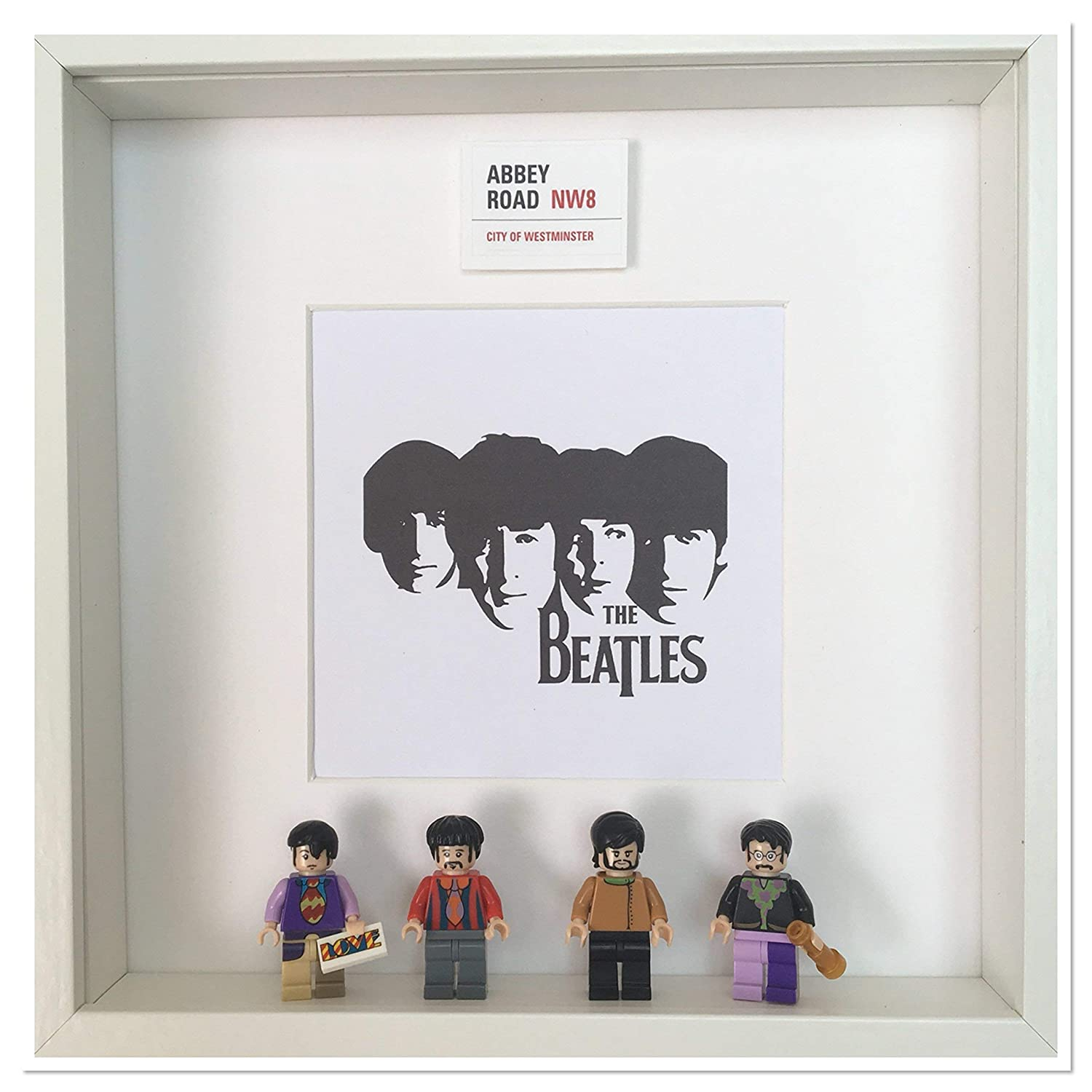 The Beatles Fab Four Lego 3D Box Frame **Including Minifigures** Picture